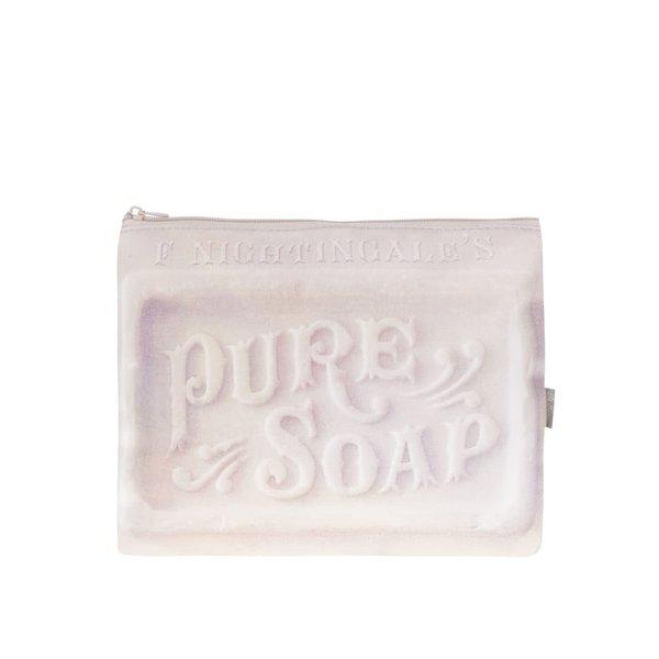 Geantă mică roz pentru săpun Disaster cu text în reflief de la Disaster in categoria Genți, rucsacuri, portofele