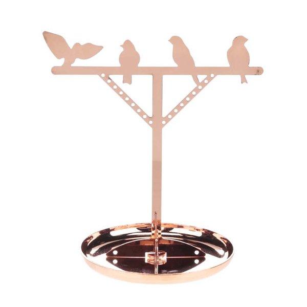 Suport de bijuterii auriu rose Kikkerland Bird de la Kikkerland in categoria CASĂ ȘI DESIGN