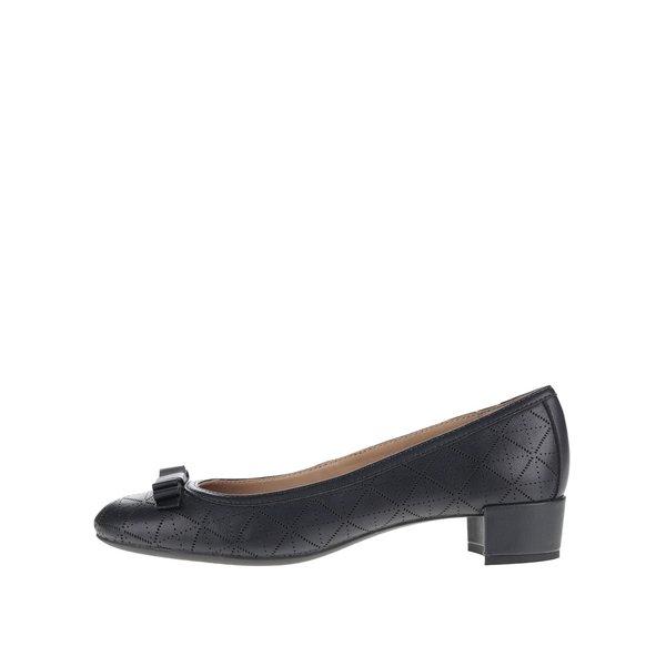 Pantofi albastru închis Geox Carey cu model și fundă decorativă