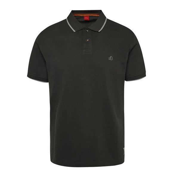 Tricou polo gri antracit s.Oliver cu detalii în contrast de la s.Oliver in categoria tricouri polo