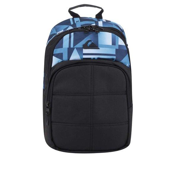 Rucsac negru & albastru Quiksilver 24 l cu model și logo de la Quiksilver in categoria Rucsacuri, genți, portofele