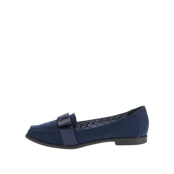 Pantofi loafer albastru închis Dorothy Perkins cu fundă decorativă de la Dorothy Perkins in categoria pantofi și mocasini