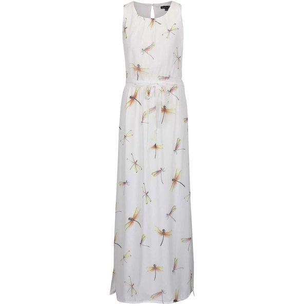 Rochie maxi alb fildeș Smashed Lemon cu imprimeu cu libelule de la Smashed Lemon in categoria rochii de vară și de plajă