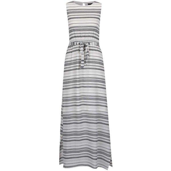 Rochie maxi alb fildeș Smashed Lemon cu imprimeu geometric de la Smashed Lemon in categoria rochii de vară și de plajă