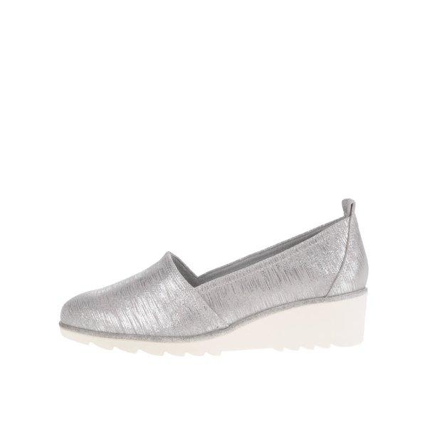 Mocasini argintii cu platformă Tamaris din piele de la Tamaris in categoria pantofi și mocasini
