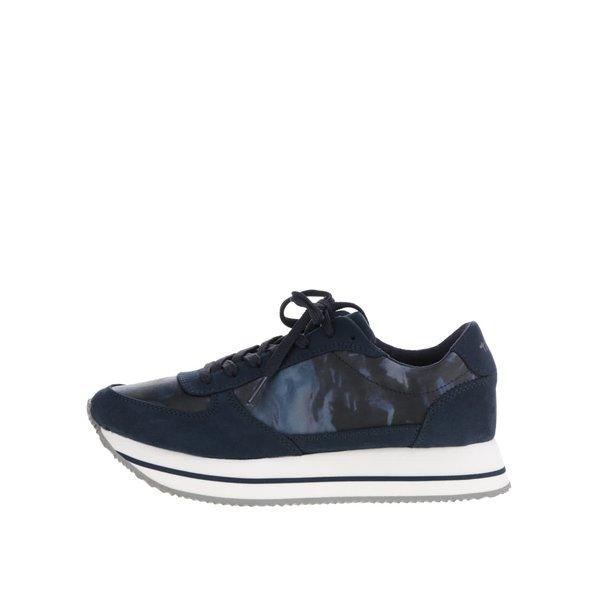 Pantofi sport albastru închis Tamaris cu platformă și model