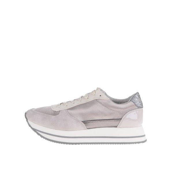 Pantofi sport lila Tamaris cu platformă și detaliu lăcuit cu logo de la Tamaris in categoria pantofi sport și teniși