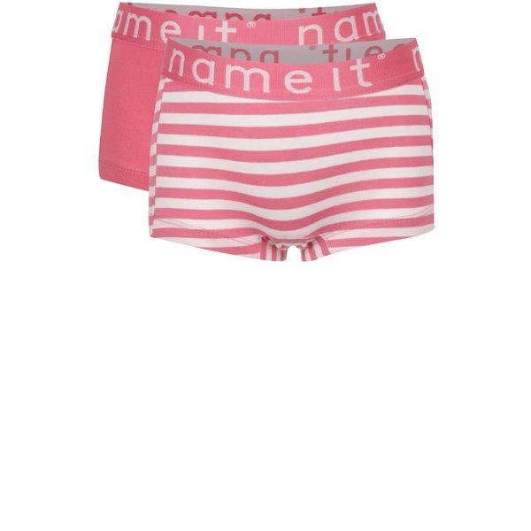 Set de 2 perechi de chiloți roz name it Hipster pentru fete de la name it in categoria Lenjerie intima, costume de baie