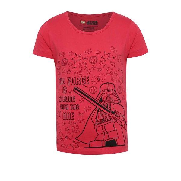 Tricou roz închis cu imprimeu LEGO wear pentru fete de la Lego Wear in categoria Tricouri, camasi