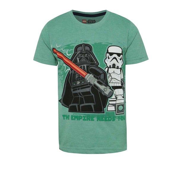 Tricou verde cu imprimeu LEGO wear pentru băieți