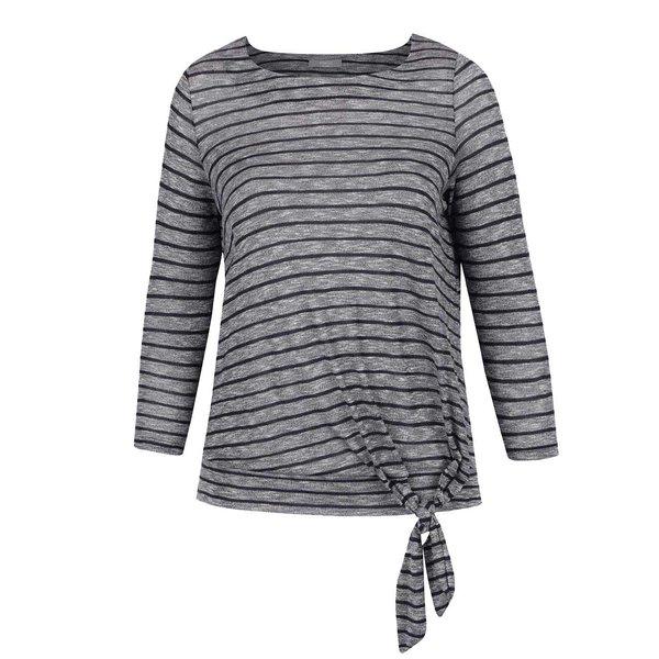 Bluză gri & bleumarin M&Co cu model în dungi