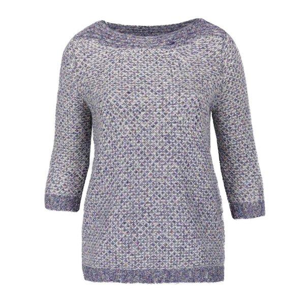 Pulover tricotat albastru melanj M&Co cu mâneci 3/4 de la M&Co in categoria Pulovere și hanorace