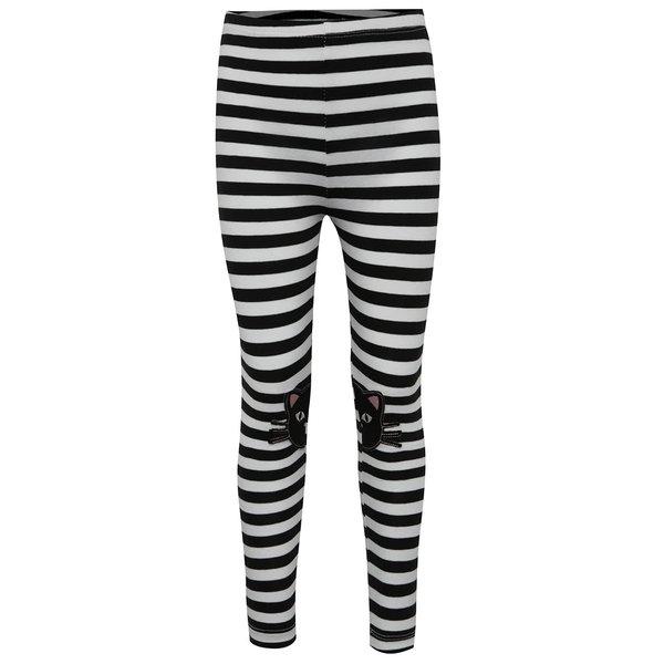 Colanți negru & alb 5.10.15. cu model în dungi