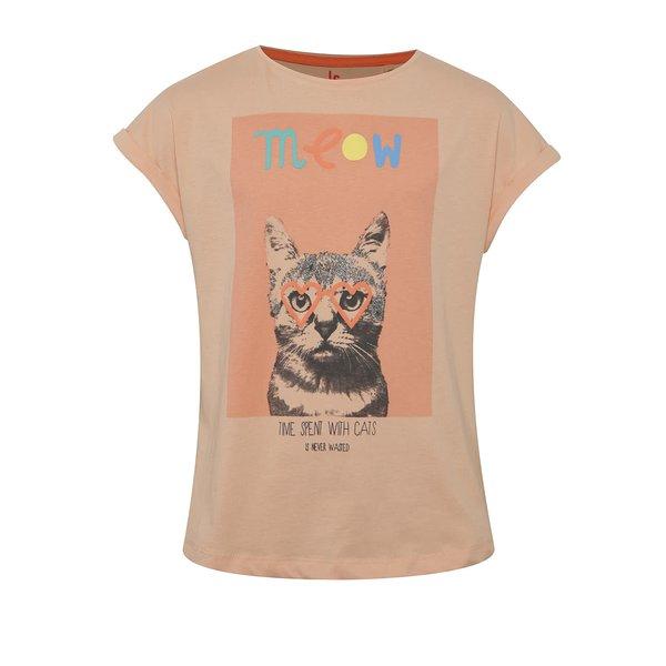 Tricou portocaliu 5.10.15. cu print pentru fete de la 5.10.15. in categoria Tricouri, camasi