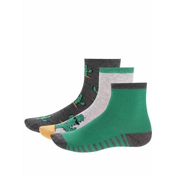 Set trei perechi de șosete cu cactuși 5.10.15 pentru băieți de la 5.10.15. in categoria Sosete, dresuri
