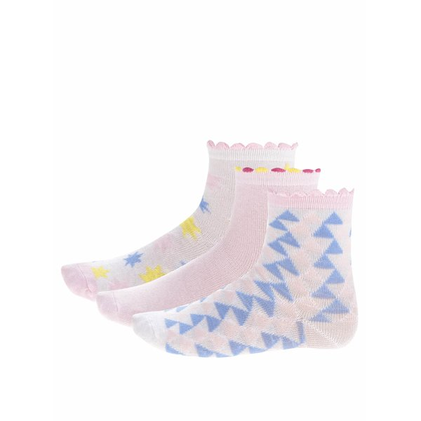 Set trei perechi de șosete în nuanțe pastel 5.10.15 pentru fete de la 5.10.15. in categoria Sosete, dresuri