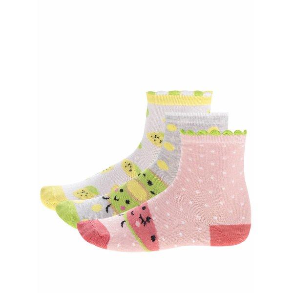 Set trei perechi de șosete cu imprimeu fructe 5.10.15 pentru fete de la 5.10.15. in categoria Sosete, dresuri