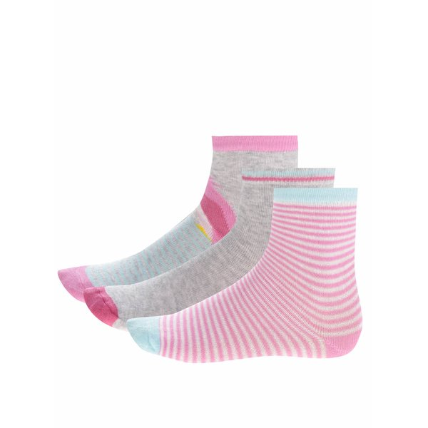 Set trei perechi de șosete 5.10.15 cu dungi pentru fete de la 5.10.15. in categoria Sosete, dresuri