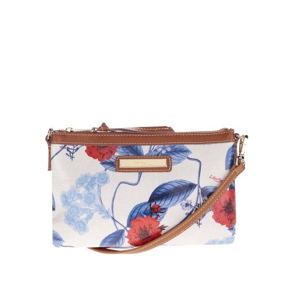 Geantă crossbody crem Liberty by Gionni Anais cu imprimeu de la Liberty by Gionni in categoria genți mici