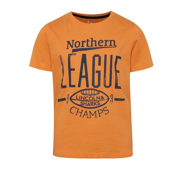 Tricou portocaliu 5.10.15. cu print pentru băieți