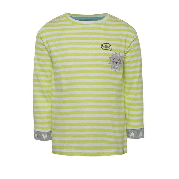 Bluză albă&galben pentru fete 5.10.15. cu dungi