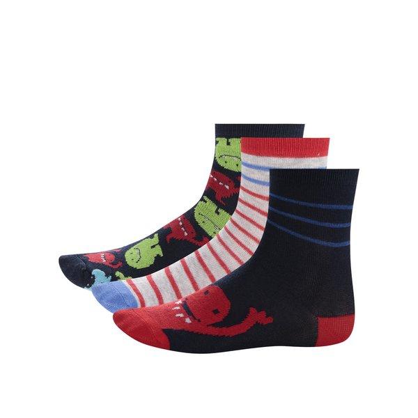 Set de trei perechi de șosete albastru & roșu 5.10.15. pentru băieți