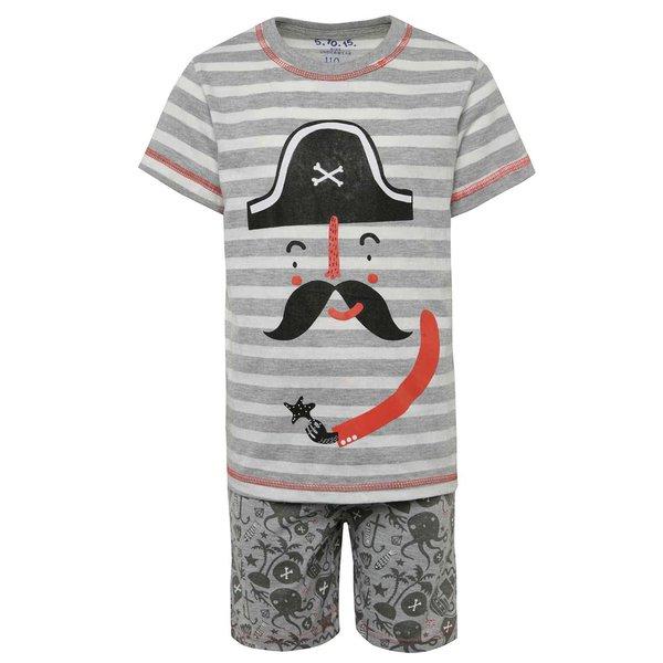 Pijamale gri & negru 5.10.15. din bumbac cu print și model pentru băieți