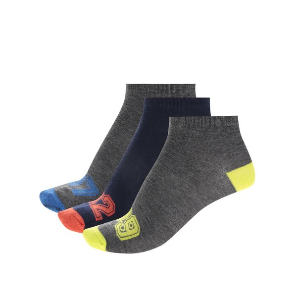 Set trei perechi de șosete gri&bleumarin 5.10.15 pentru băieți