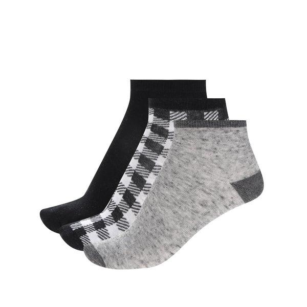 Set trei perechi de șosete alb&negru&gri 5.10.15 pentru băieți de la 5.10.15. in categoria Sosete, dresuri