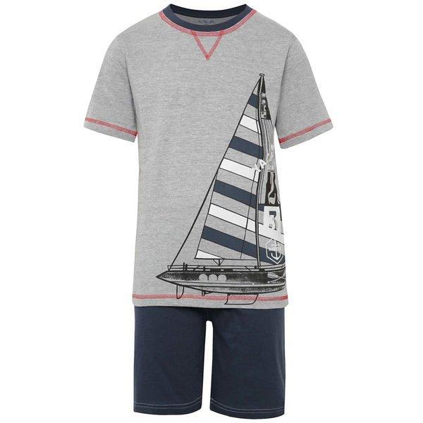 Pijamale albastru & gri 5.10.15. din bumbac pentru băieți