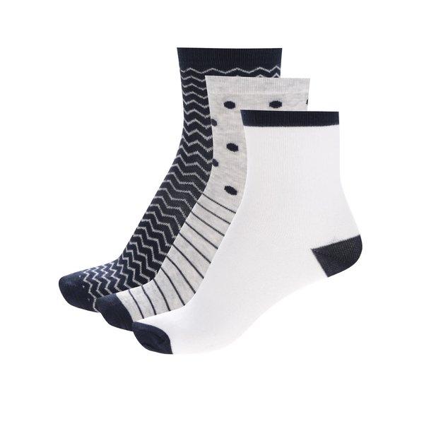 Set trei perechi de șosete 5.10.15 cu dungi și buline pentru fete de la 5.10.15. in categoria Sosete, dresuri