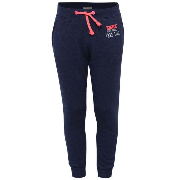 Pantaloni sport albastru închis 5.10.15. cu print și aplicație pentru fete de la 5.10.15. in categoria Pantaloni, pantaloni scurți, colanți