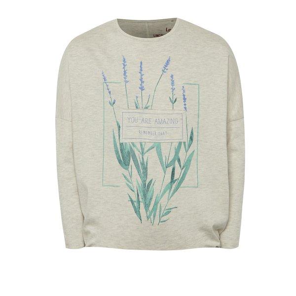 Bluză crem 5.10.15. cu print pentru fete