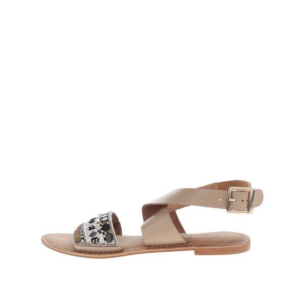 Sandale bej VERO MODA Melise cu aplicații decorative de la VERO MODA in categoria sandale
