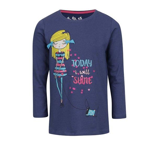 Bluză bleumarin pentru fete 5.10.15. cu print multicolor