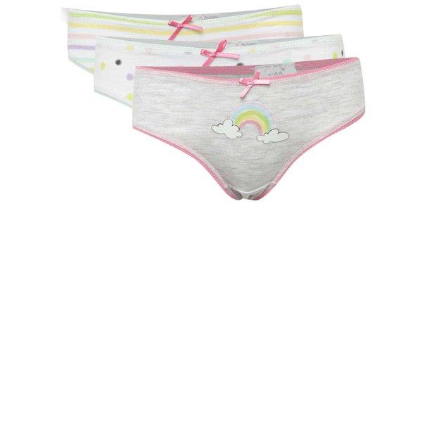 Set trei perechi de chiloți cu imprimeu 5.10.15 pentru fete de la 5.10.15. in categoria Lenjerie intima, costume de baie
