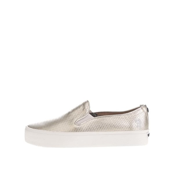 Teniși slip on argintii de damă U.S. Polo Assn. Richelle de la U.S. Polo Assn. in categoria pantofi casual