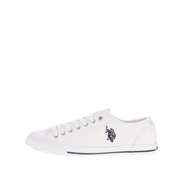 Teniși alb fildeș de damă U.S. Polo Assn. Randi din pânză de la U.S. Polo Assn. in categoria pantofi sport și teniși