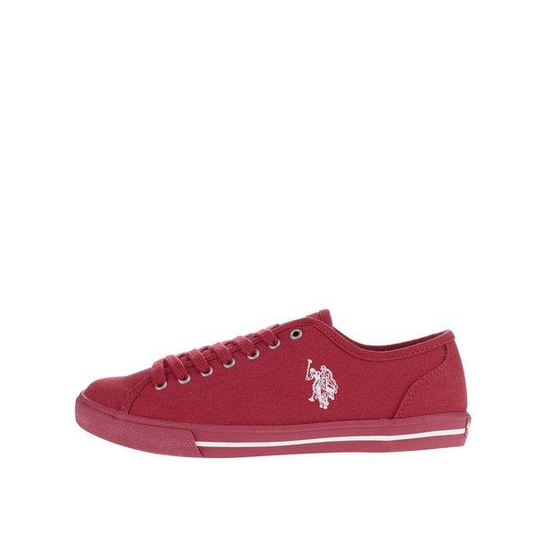 Teniși roșii de damă U.S. Polo Assn. Randi din pânză de la U.S. Polo Assn. in categoria pantofi sport și teniși