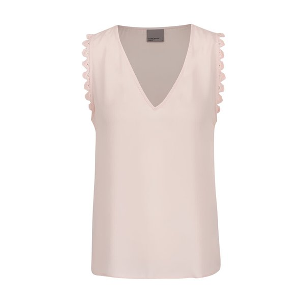 Top roz piersică VERO MODA New Laurie cu inserție macrame de la VERO MODA in categoria Topuri, tricouri, body-uri