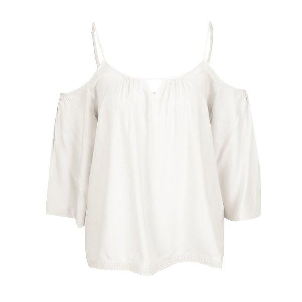 Bluza alb prafuit cu decolteu pe umeri si bretele subțiri - VERO MODA