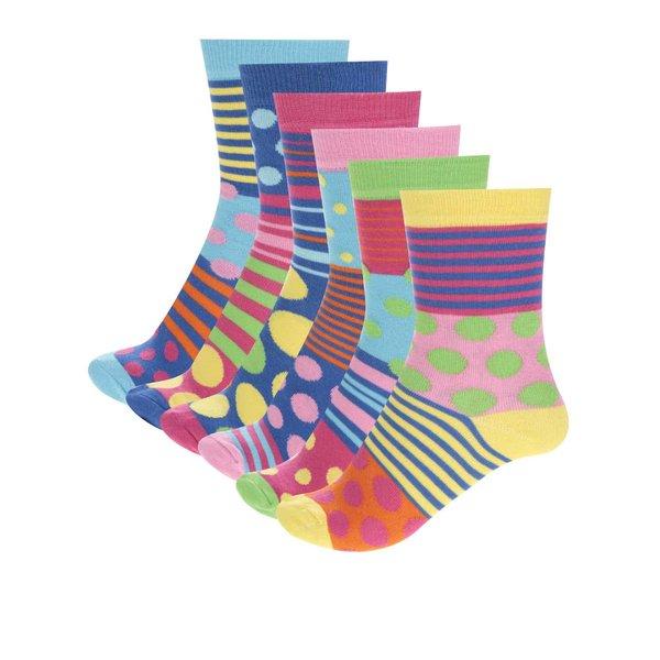 Set șase șosete multicolore Oddsocks Polka