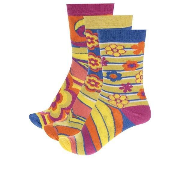 Set trei șosete multicolore Oddsocks Shirley cu flori