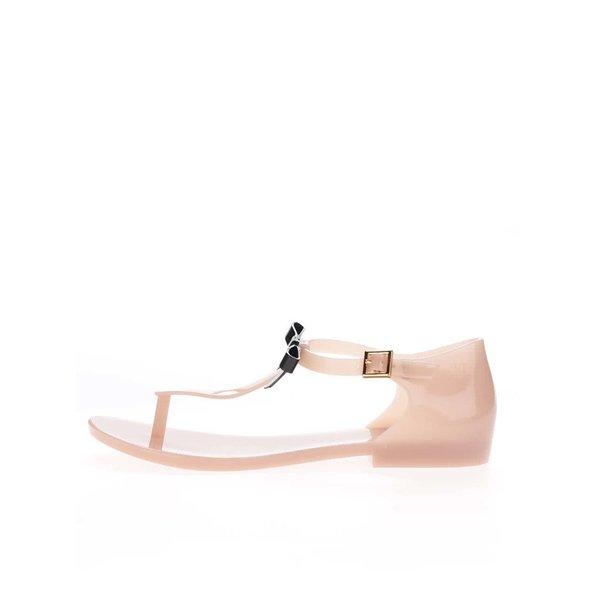 Sandale roz pal Melissa Honey cu fundă
