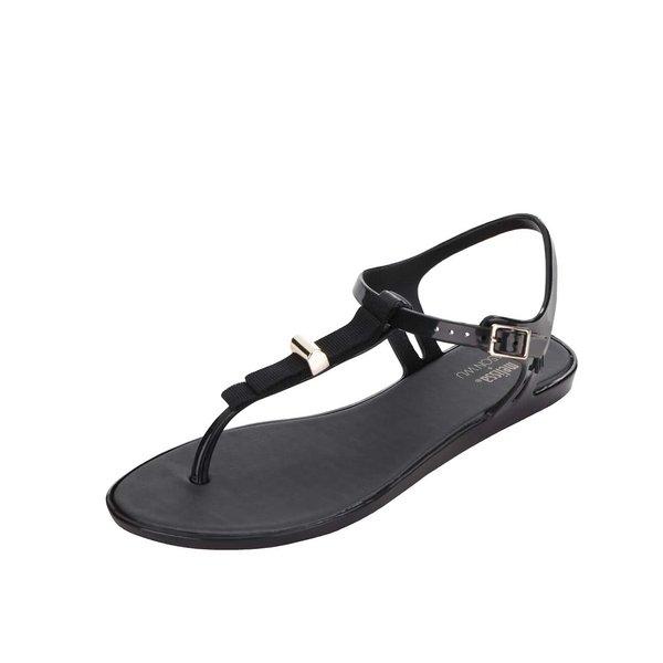 Sandale negre Melissa Solar cu detaliu metalic de la Melissa in categoria sandale