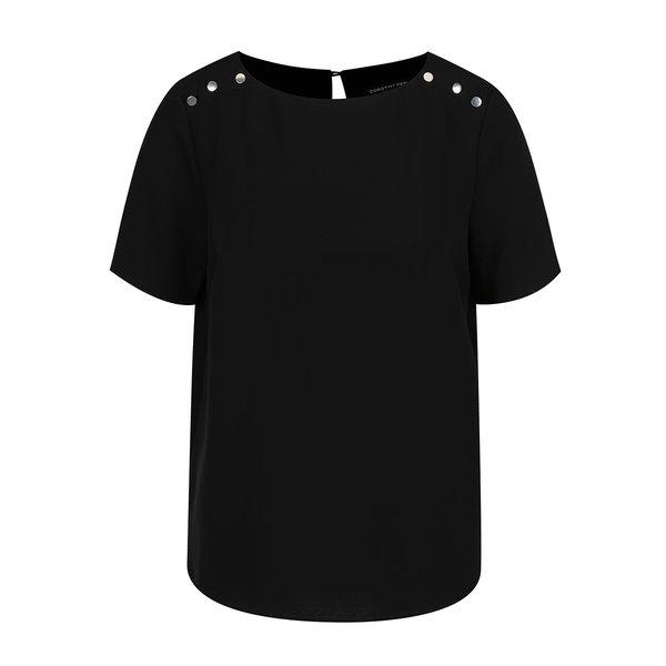 Bluza neagra cu detalii metalice Dorothy Perkins