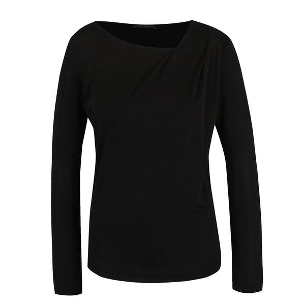 Bluză neagră Pietro Filipi cu decolteu asimetric