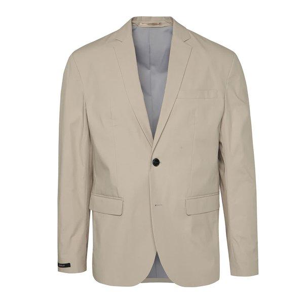Sacou bej slim fit Jack & Jones Premium Corban de la Jack & Jones Premium in categoria Geci, paltoane, jachete