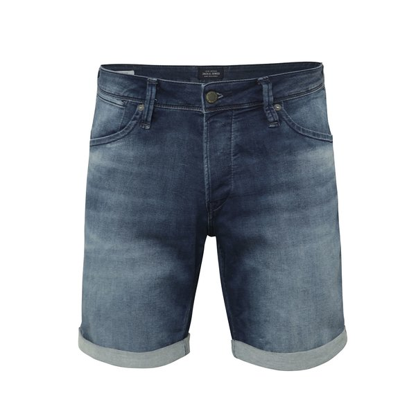 Pantaloni scurți Jack & Jones Rick Dash albaștri din denim