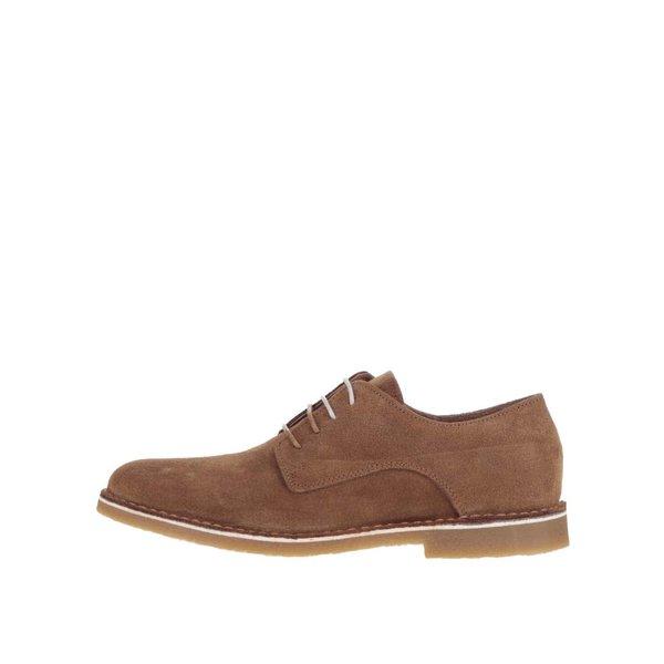 Pantofi maro Selected Homme Royce din piele întoarsă de la Selected Homme in categoria pantofi și mocasini